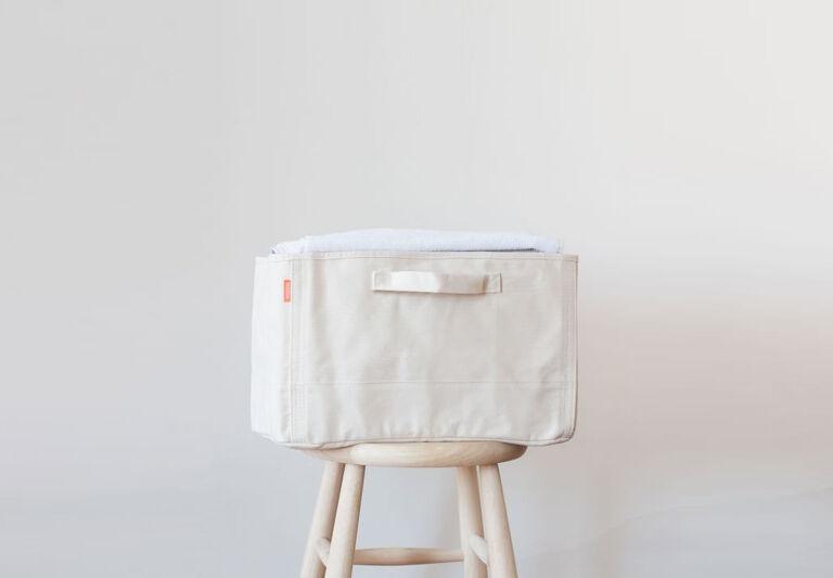Pottery Barn Canvas Tub Natural Storage Basket