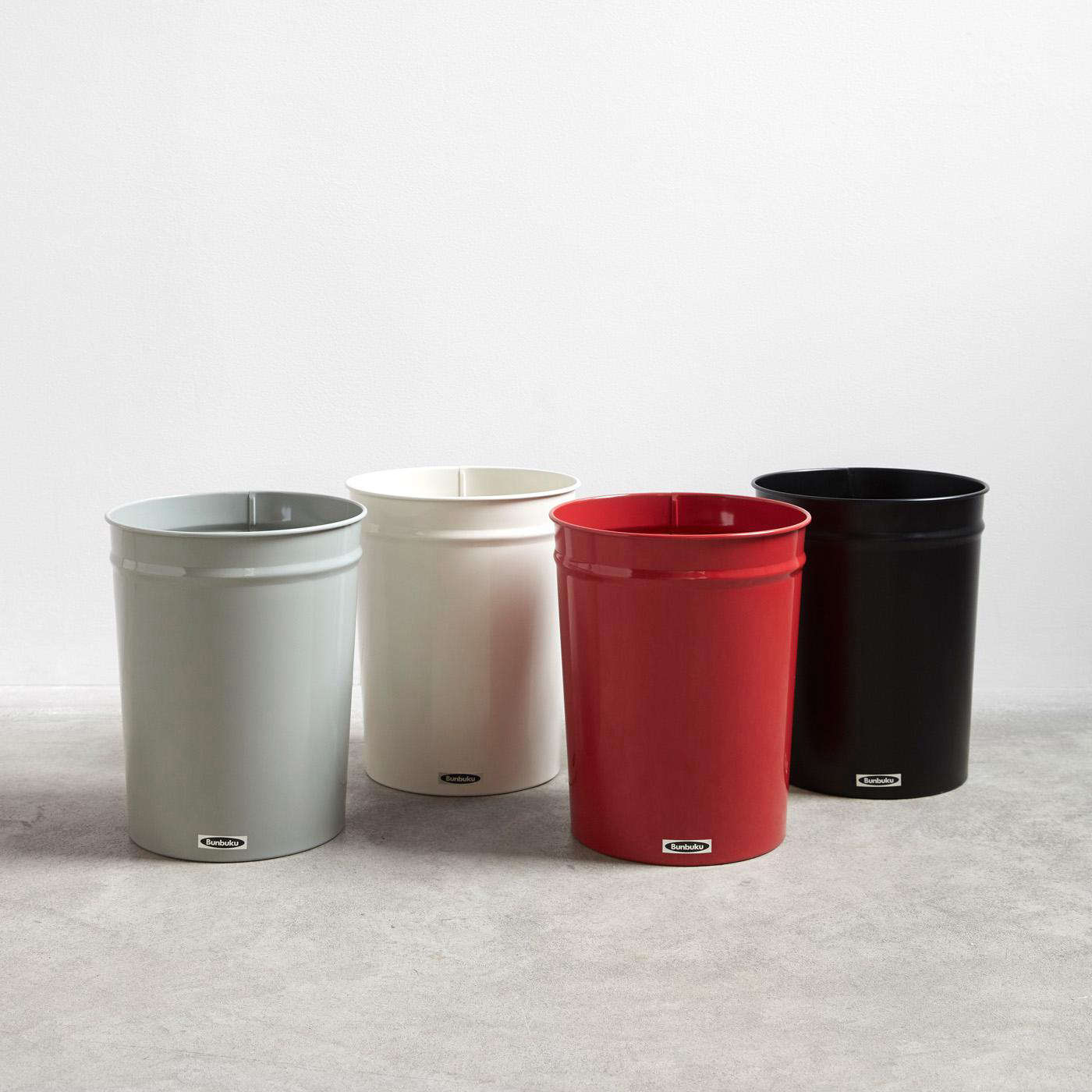 The classroom Bunbuku Small Waste Can comes in four colors at Unison Home; $34 each.
