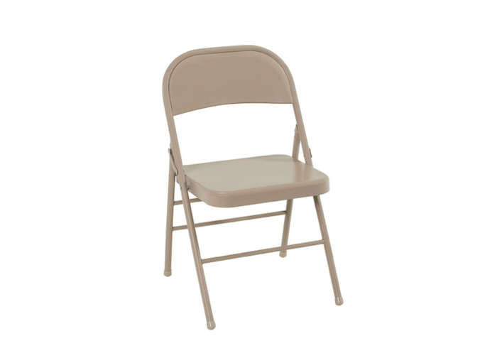 The All-Steel Antique Linen Folding Chair comes in a set of four for $48.82 at The Home Depot.