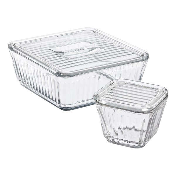 As a longtime collector of old kitchen things, my pick goes to Anchor's vintage-style glass food storage containers—lidded boxes made from the company's original 1932 molds. They can be heated in the oven and microwave, and stack well in the fridge. A 5-Cup Storage Dish with Lid is $27.99 on Amazon.