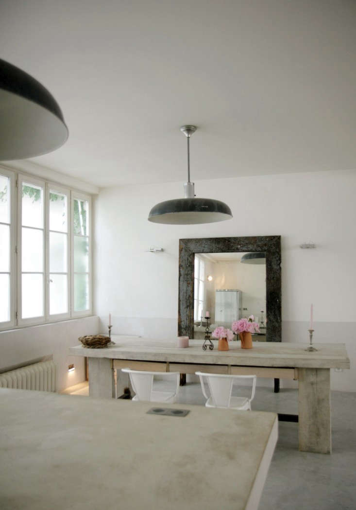 Roxane Beis Paris Apartment Dining Room Tolix Chairs