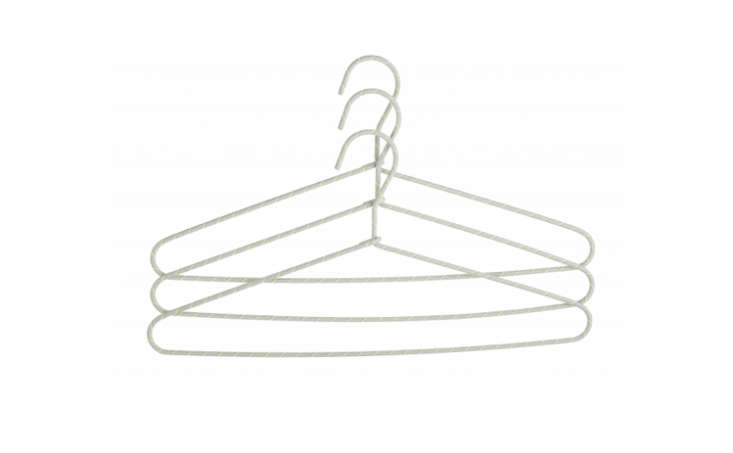 Another notable design by Hay, the string-wrapped Cord Hanger comes in several color combinations (gray shown here).