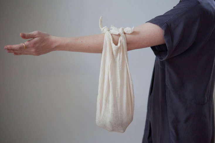 The result is a great option for an impromptu tote, such as to carry farmers' market purchases. If you keep the cloth in your bag, you have it as needed.