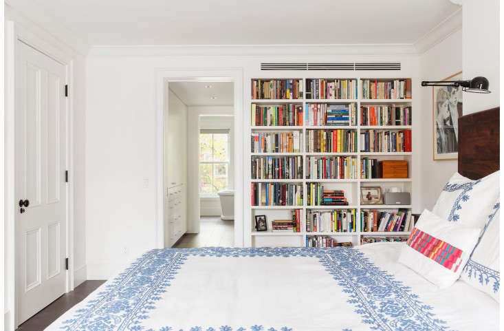 In her book, Kondo says that she whittled her book collection down to just 30 that spark joy in her. That would take up less than three of the small shelves pictured here.