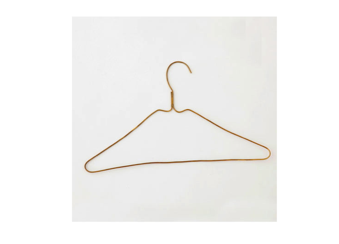 Fog Linen's brass Shirt Hangers, hand-wrought in India, are $9 each.