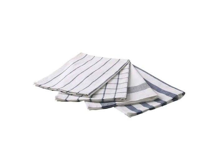 Ikea's Elly Dish Towels make affordable (and charmingly rustic) napkins; $3.99 for a set of four.