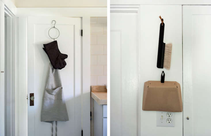 """""""The kitchen is not big on storage space, so I hang as much as I can and turn it into a visual display,"""" says Sarah."""