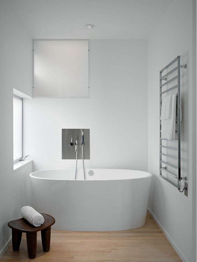 Towel Warmer in Modern SF Bath