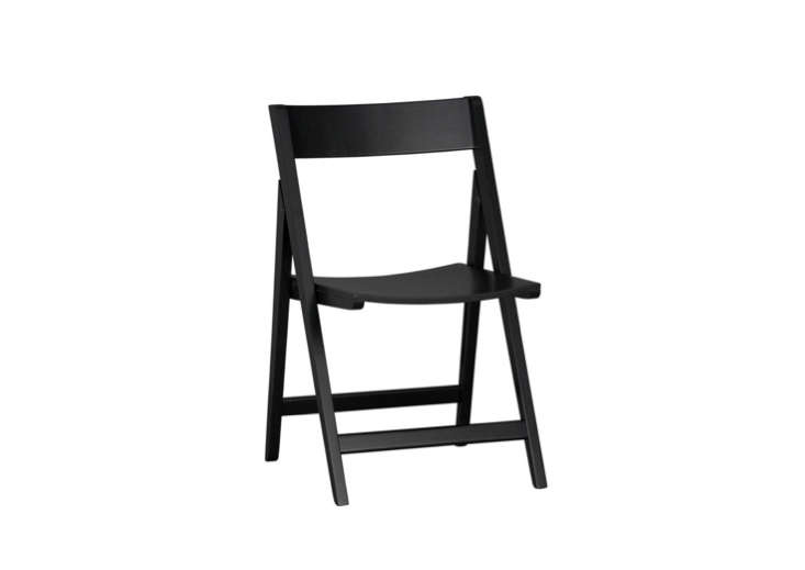 Crate & Barrel'sSpare Black Folding Chair is currently on sale for $40.95.