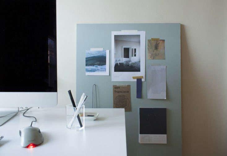 pin board in a home office update