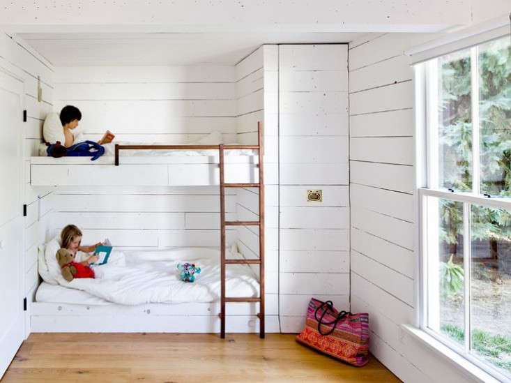 Scandi-inspired bunk beds for kids. PhotographbyLincoln Barbour, fromA Scandinavian Cottage—in Portlandia.