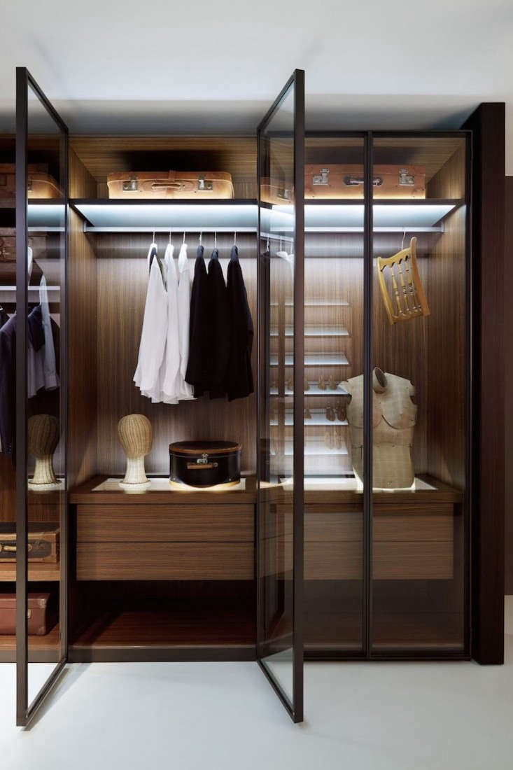 "Designed by Giuseppe Bavuso, the Ego Wardrobe System from Italian company Porro is ""dedicated to the order characterized by maximum neutrality."" Go to Porro for details."