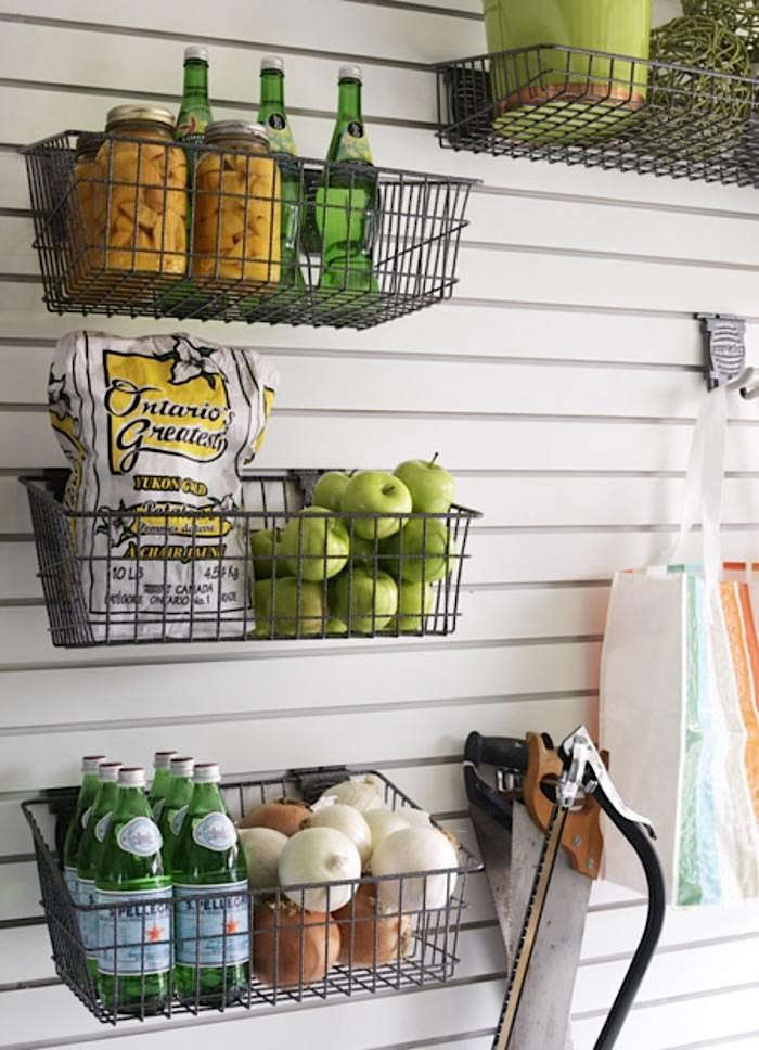 10 Wall Mounted Wire Baskets As Storage The Organized Home