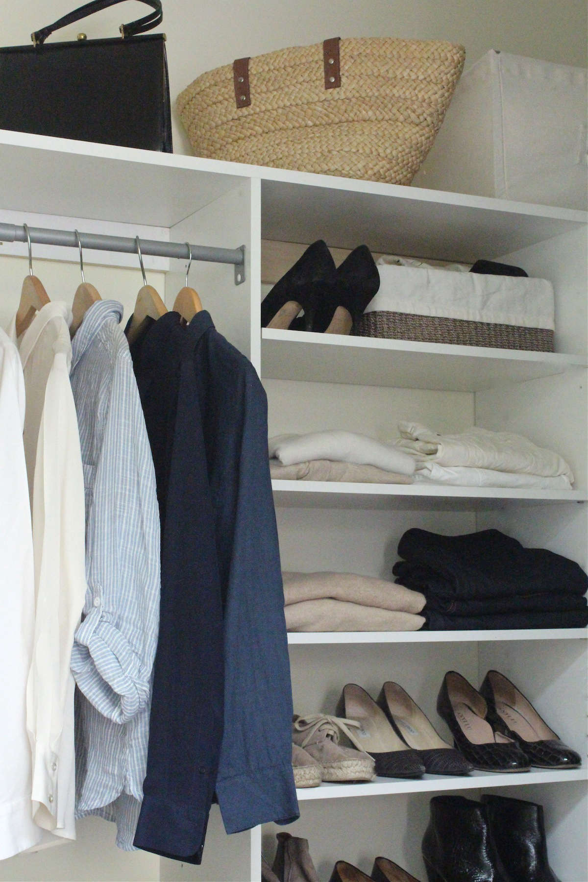 My edited closet. Photograph by Michelle Slatalla.