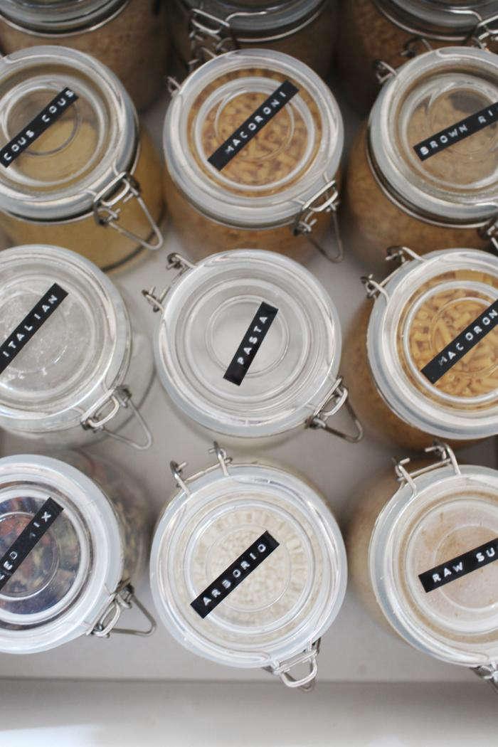Labeled Jars in Kara Rosenlund's Queensland Cottage Kitchen