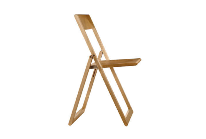 The MagisAviva Folding Chair is available in natural (shown) and black; $255 at Connox.