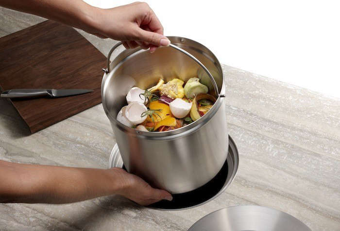 Blanco Stainless Steel Bucket Compost