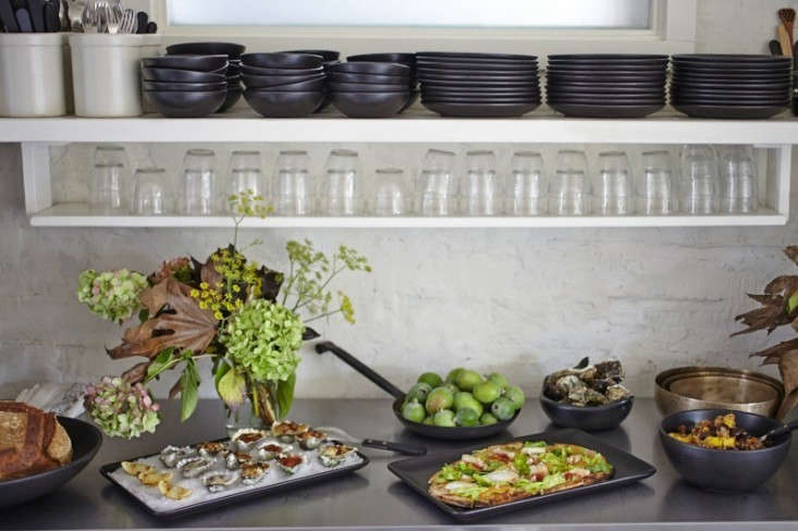 When restaurateurs Maxine and John Gilbert entertain, they trade stemware for simple water glasses (they like Duralex glasses, pictured). Photograph by Julia Spiess forDinners with Friends, from10 Tips: How to Create a Laid-Back Thanksgiving, Northern-California Edition.