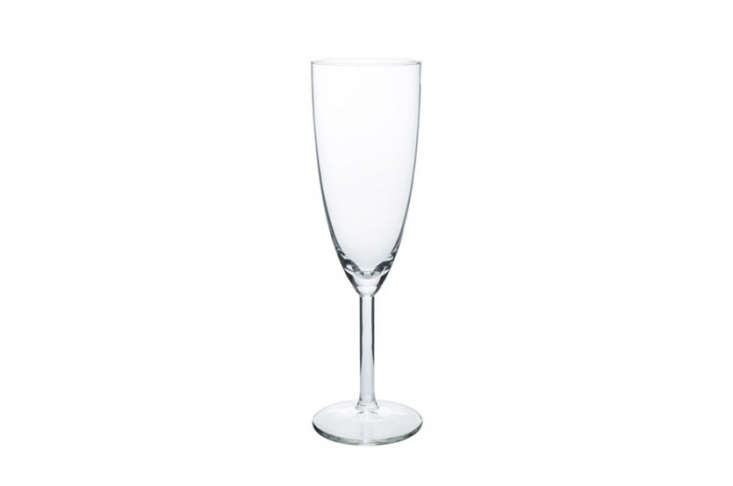 For large parties, Ikea's Svalka Champagne Flutes are good to have on hand in multiples; $4.99 for a pack of six.N.B.: They are not the most durable, but for the price, they can't be beat.