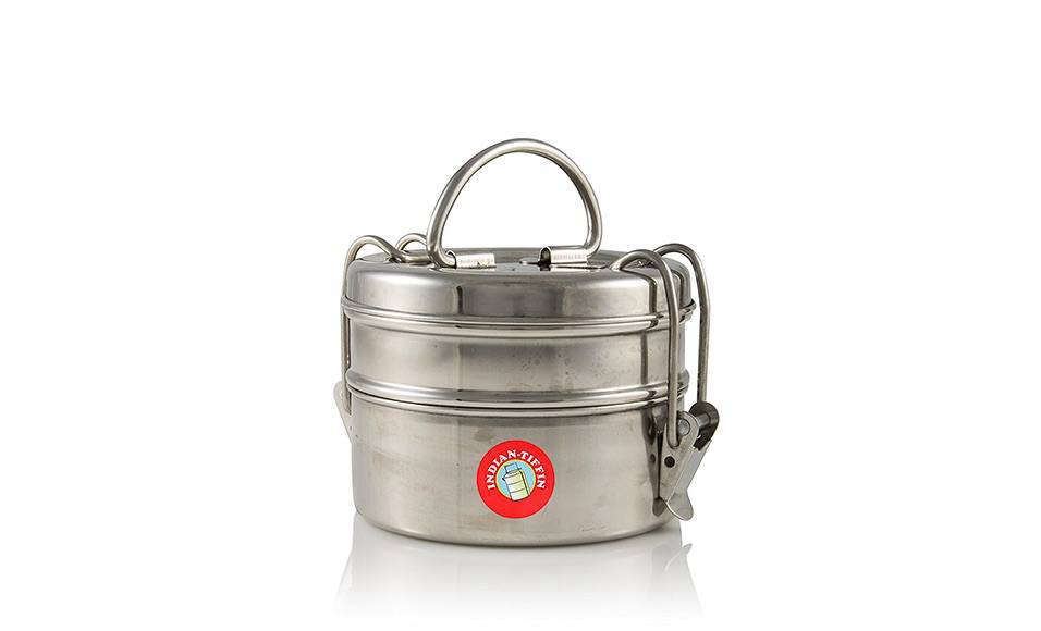 Remodelista contributor Megan Wilson uses Indian tiffin boxes as lunch boxes and also as leftovers containers–read her Object Lesson on the Trusty Tiffin Box. This stainless steel Two-Tier Indian Tiffin is $15.89 from Amazon.