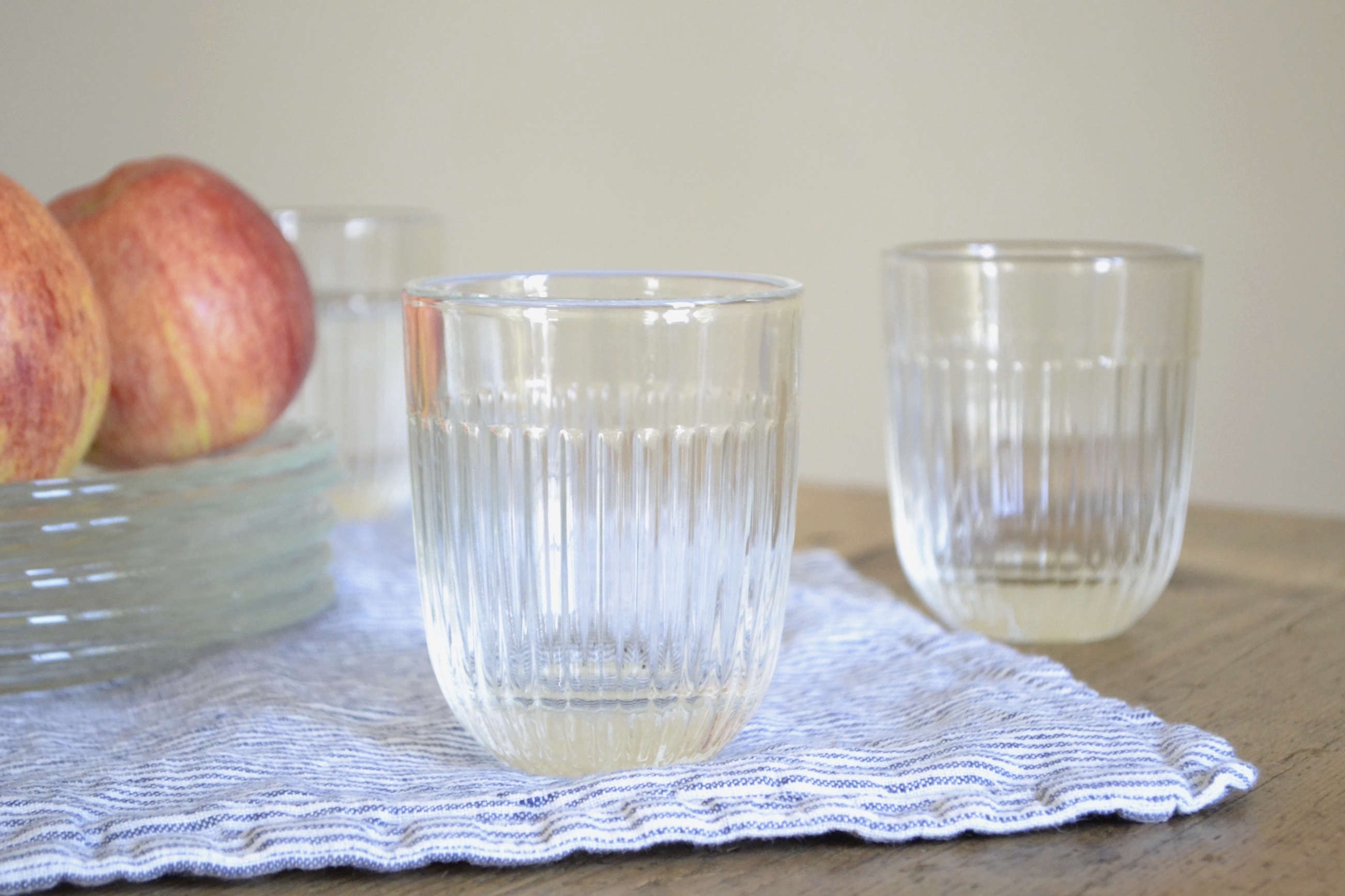 Le-Roychere-French-ribbed-glasses from Le-Reperes-des-Belettes | Remodelista