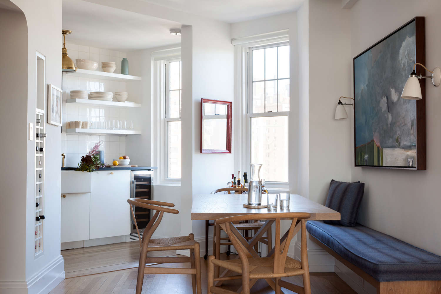 Seth Meyers and Alexi Ashe's compact New York kitchen remodeled by Ashe + Leandro, photo by Fran Parente | Remodelista