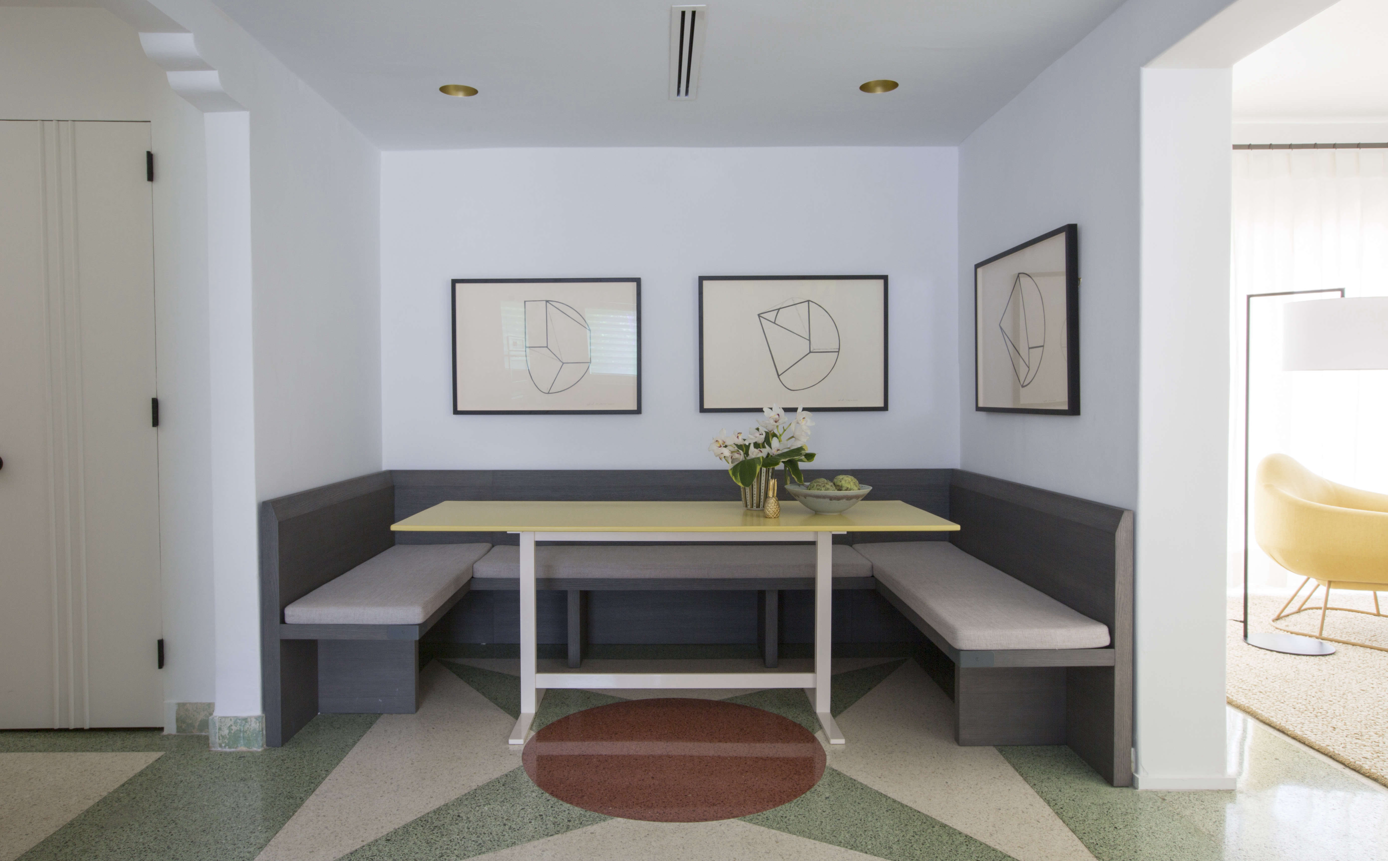 Breakfast nook in Miami art deco villa remodel by Stephan Weishaupt, owner of Avenue Road, Max-Zambelli-photo   Remodelista