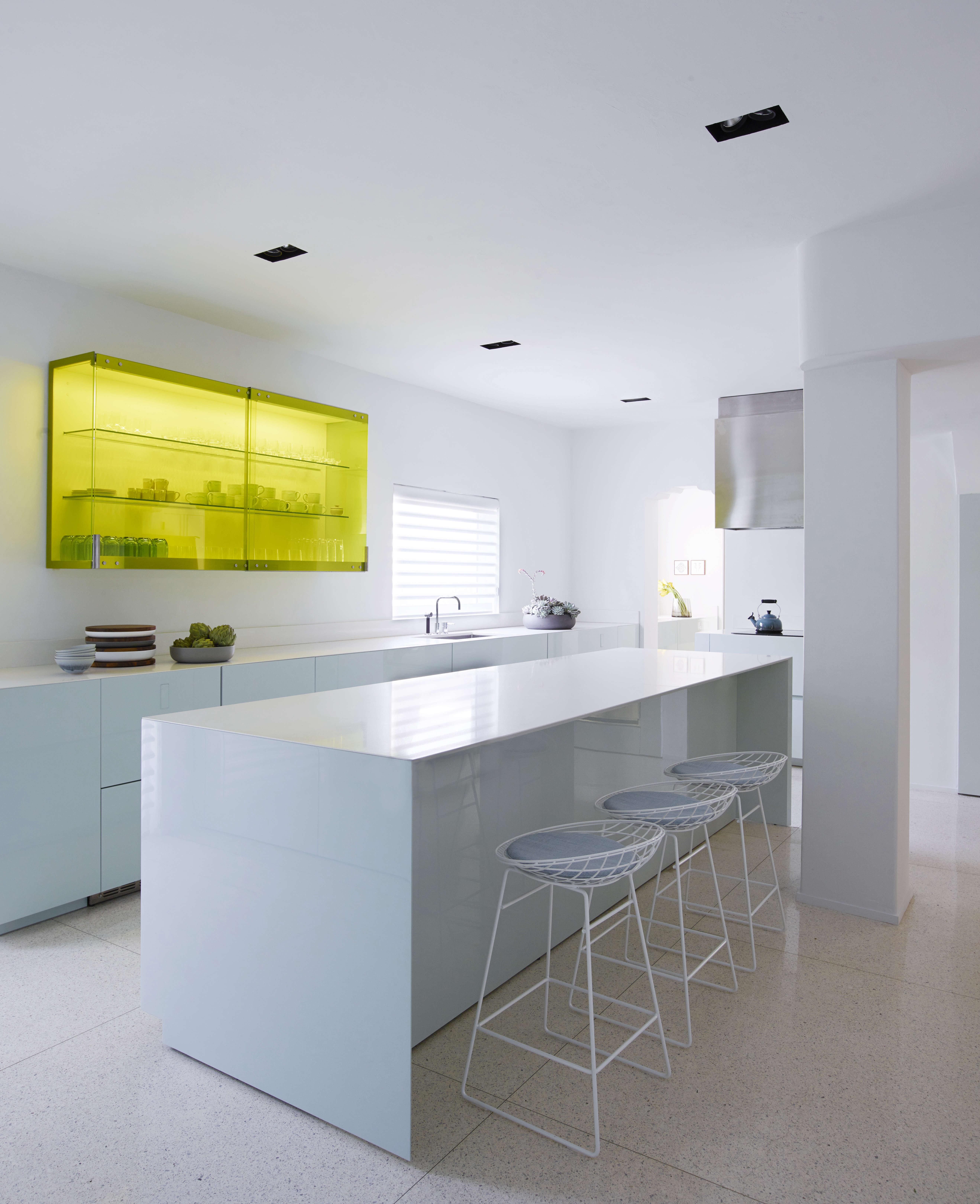 Minimalist contemporary kitchen in a revived 1932 Miami villa belonging to contemporary furniture dealer Stephan Weishaupt of Avenue Road, Richard-Powers photo   Remodelista
