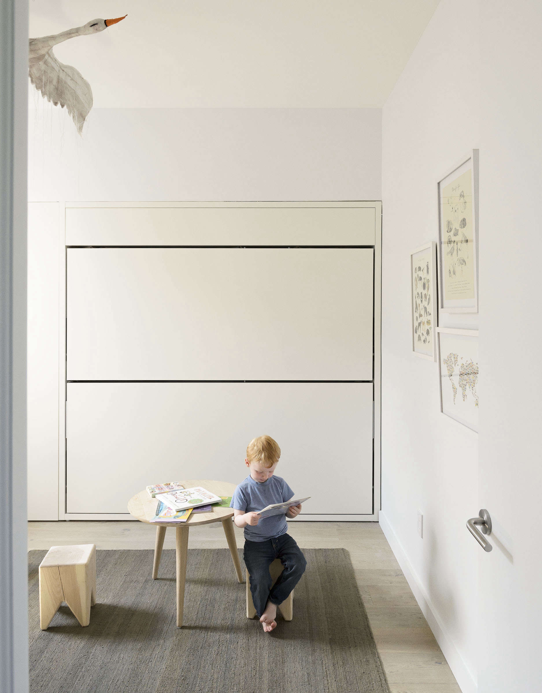 Kid's room solution: Murphy bed bunkbed folded up, Matthew-Williams-photo | Remodelista