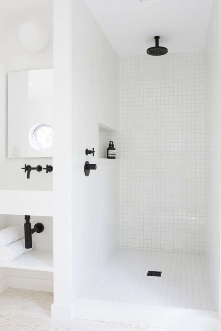 Black and white simplicity. Photograph courtesy of Amee Alsop Design, from10 Favorites: White Bathrooms from the Remodelista Designer Directory.