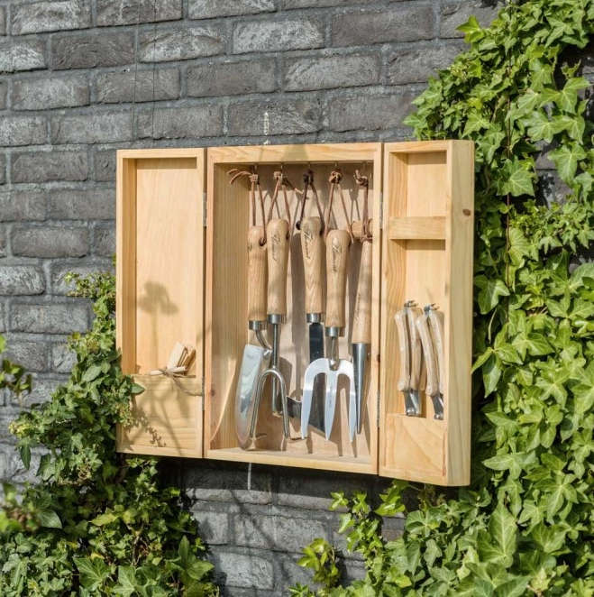 flamant-box-of-garden-tools-on-wall-gardenista