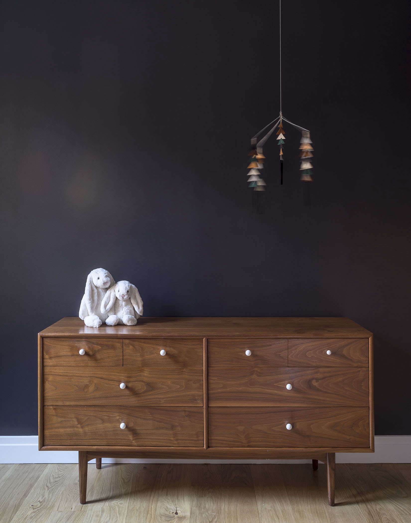 Midcentury-style dresser in a baby's room designed by Workstead, Matthew Williams photo | Remodelista
