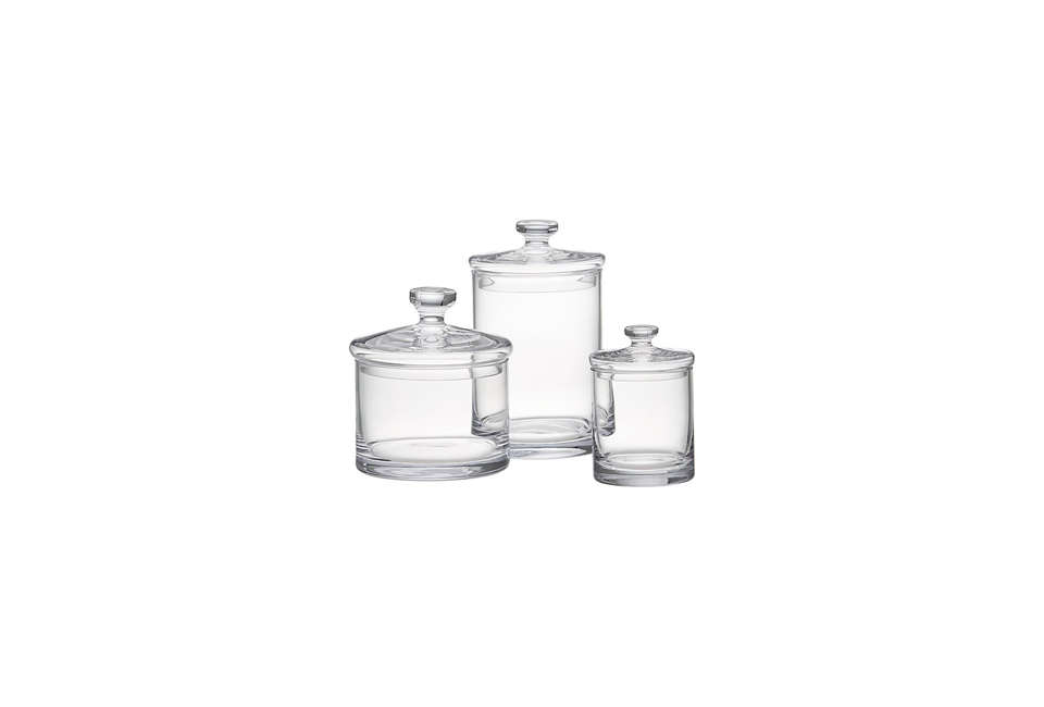 Crate & Barrel Glass Canisters