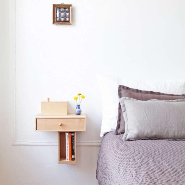 Pelle Bedside Console in Maple