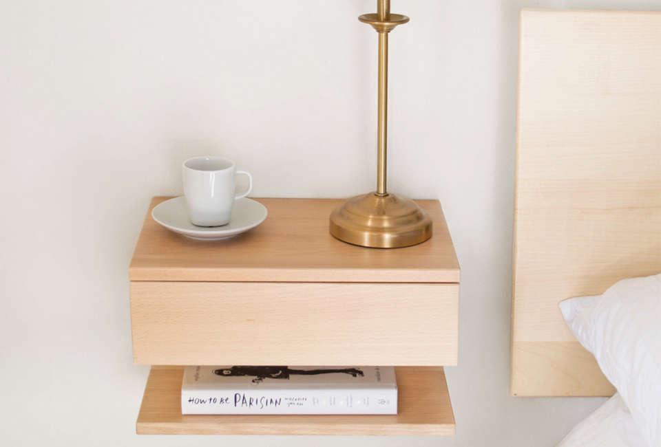 Urbansize Floating Bedside Shelf with Drawer