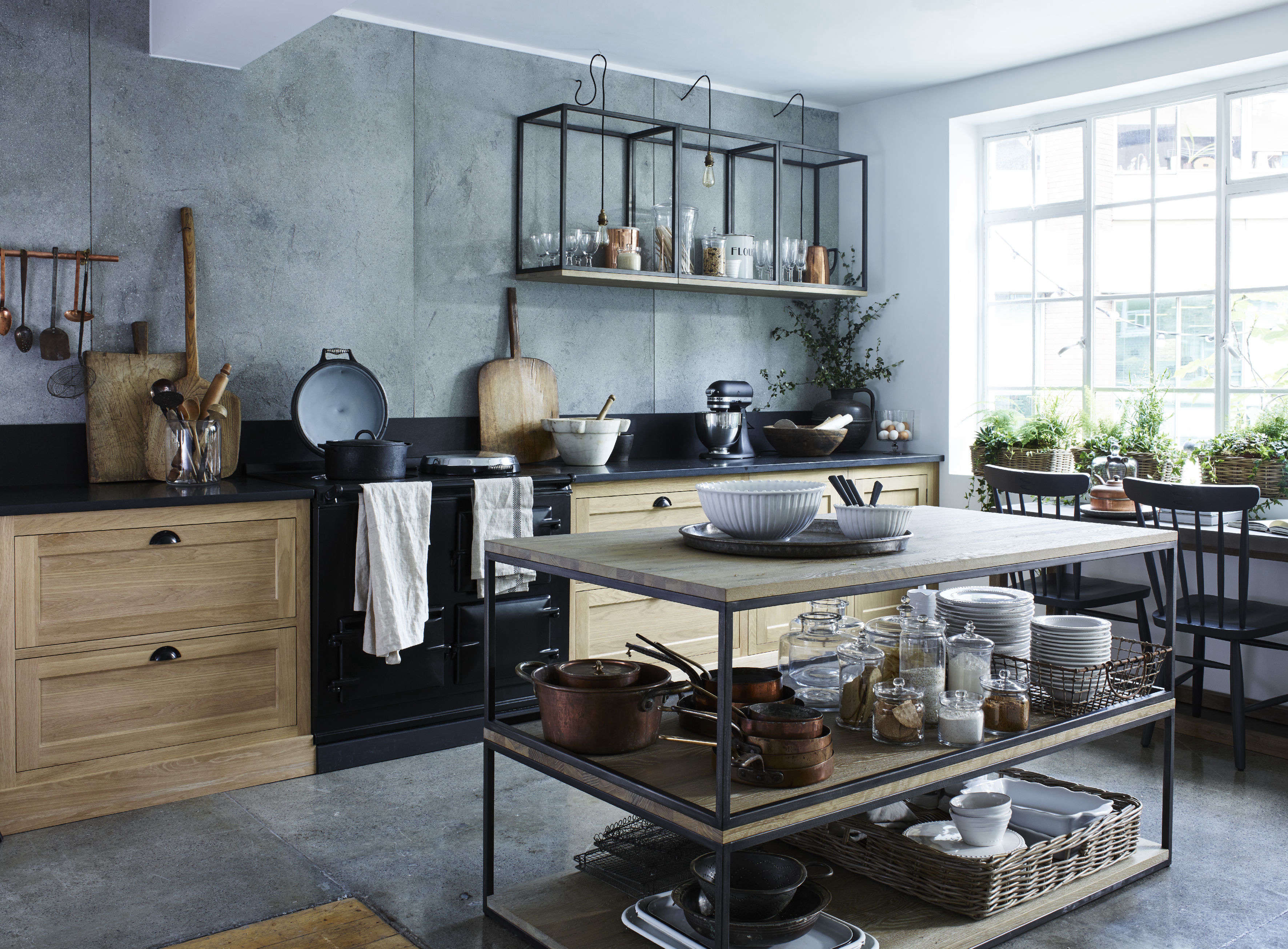 Stacked coffee tables in Neptune kitchen