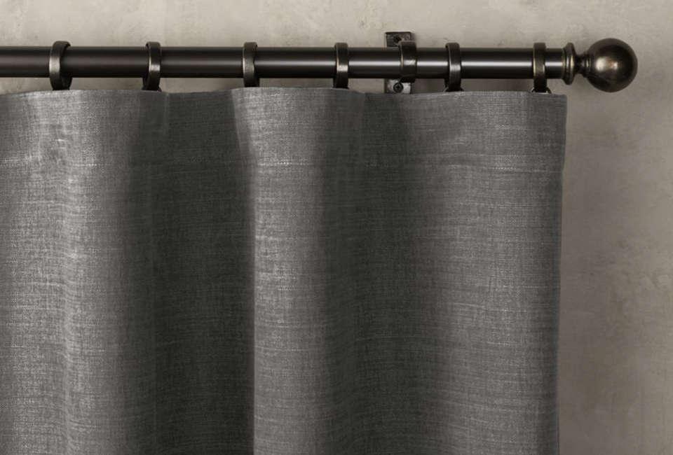 Restoration Hardware Brushed Belgian Cotton Curtains