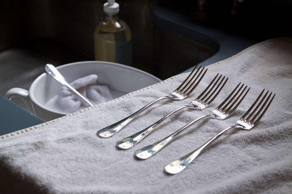 DIY Silver Care and Polish Washing