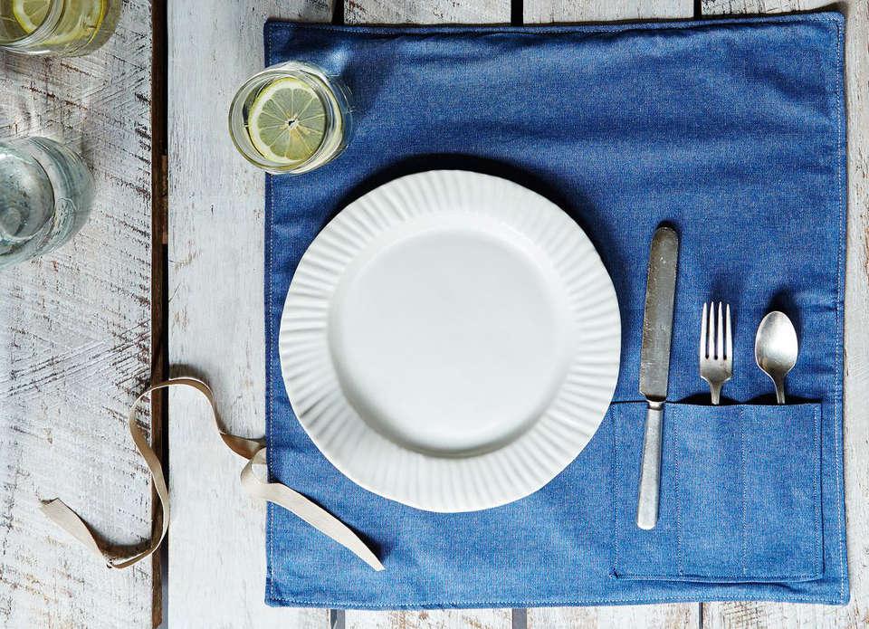 Food52 Denim Flatware Pocket Tablemat