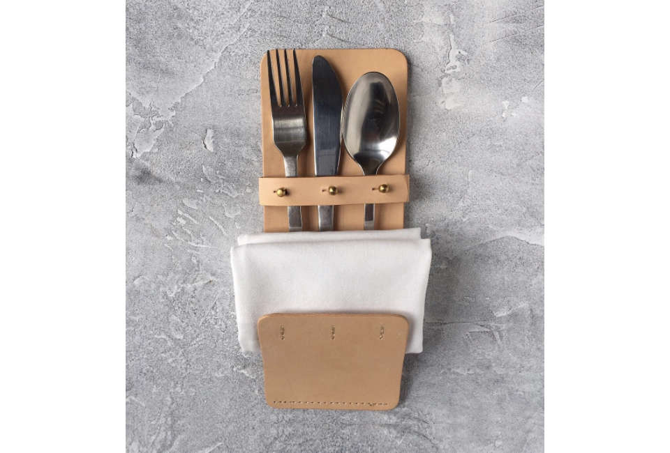 MO Denmark Cutlery Pouch in Leather