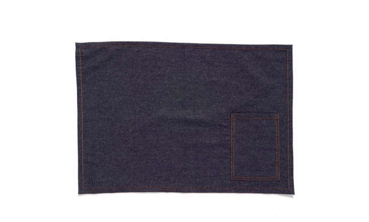 Crisp cotton Denim Placemats with stitched cutlery pockets are currently on sale for $22.49 for a set of four at Nordstrom.