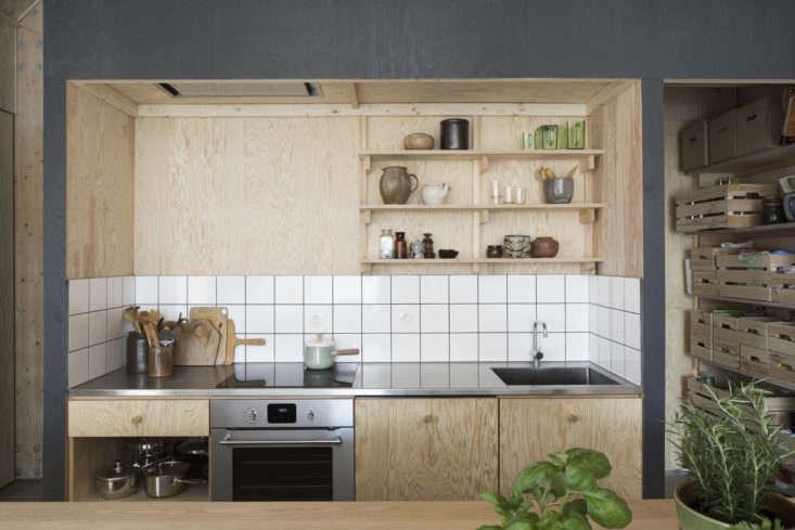 House for Mother Plywood Open Shelves Kitchen Forstberg Ling