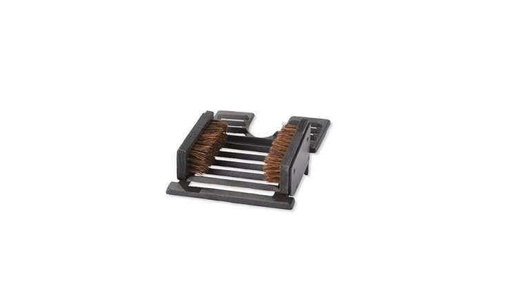 L.L. Bean's Boot Brush ($49.95) has a heavy cast-iron frame for long, messy Maine winters.
