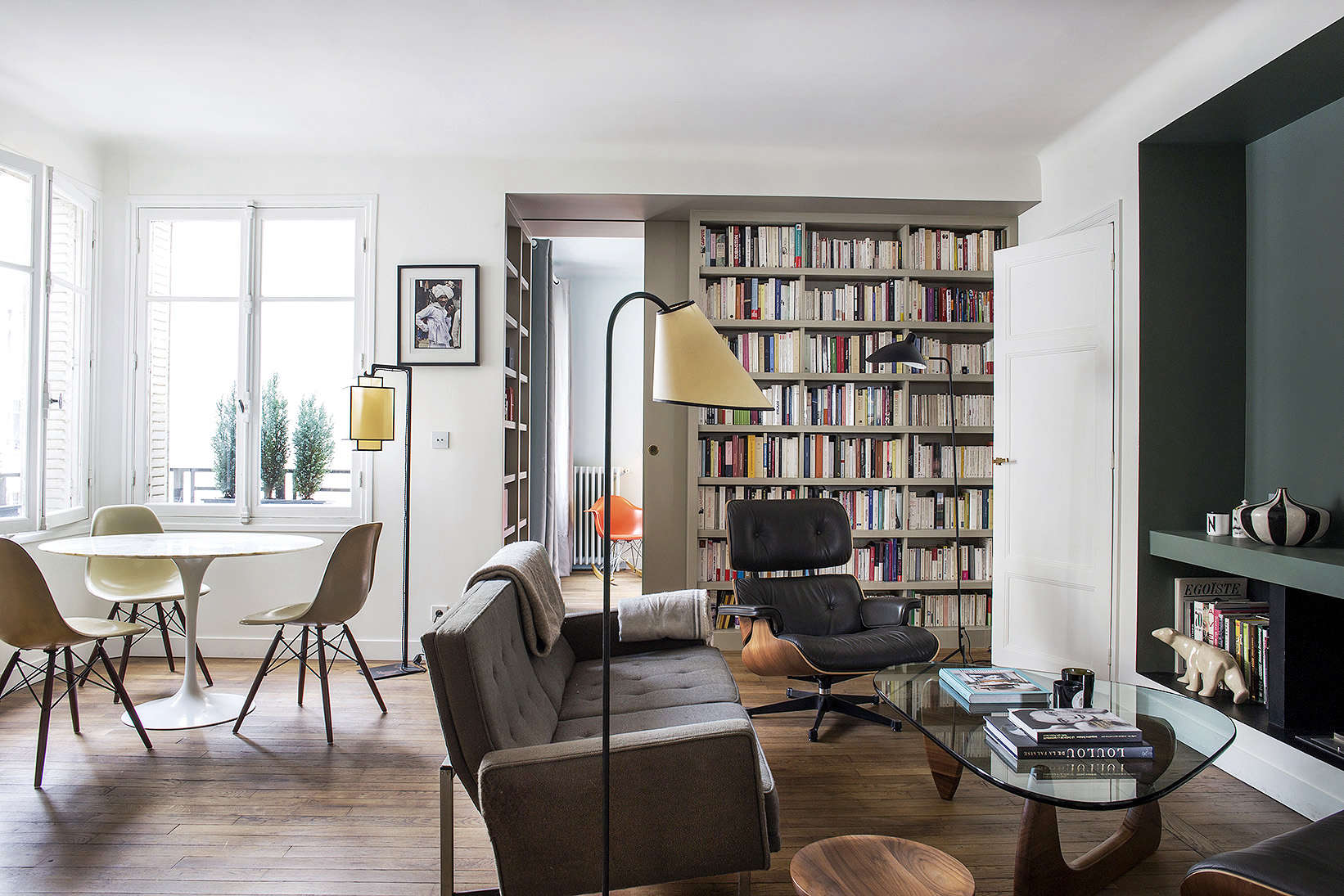 Modern Small Apartment Combination Living and DIning Room Paris By Philippe Harden