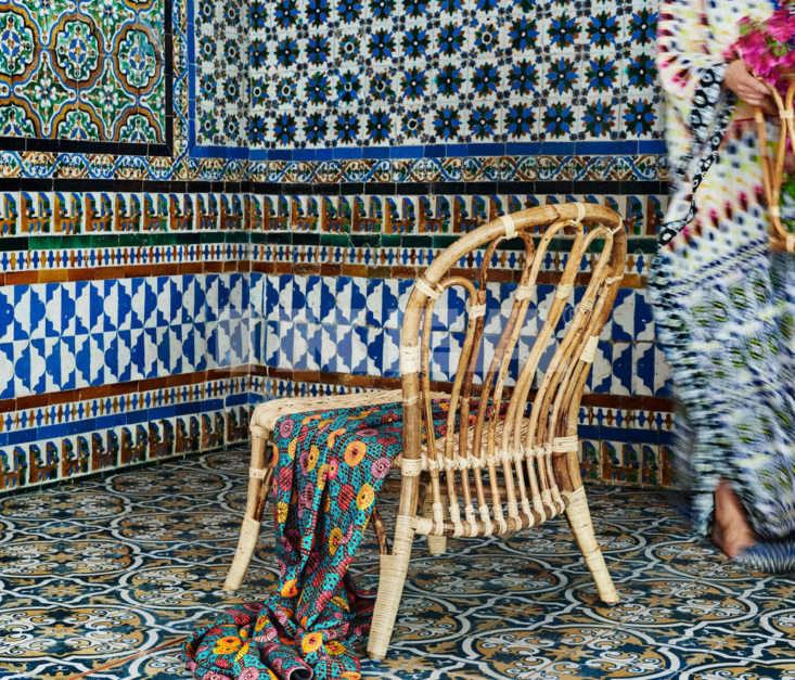 Ikea Jassa rattan woven easy chair