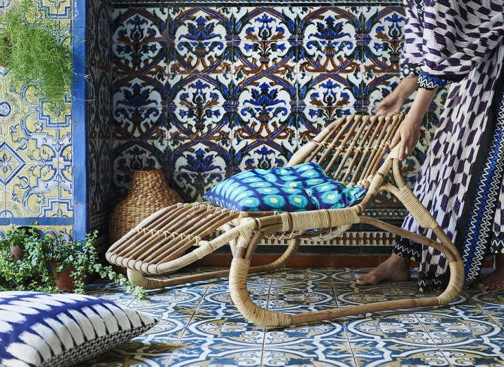 Ikea Jassa lounge chair woven rattan