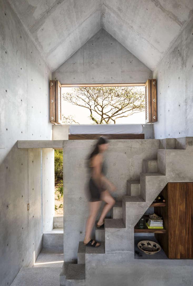 Casa Tiny Airbnb Oaxaca Mexico, Concrete Stairs, Architect Aranza de Ariño, Camila Cossio Photo