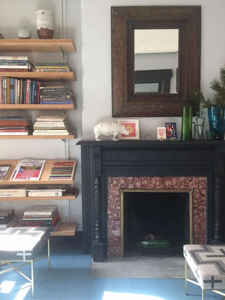 Franklin Salasky BedStuy Townhouse Fireplace with Shelves