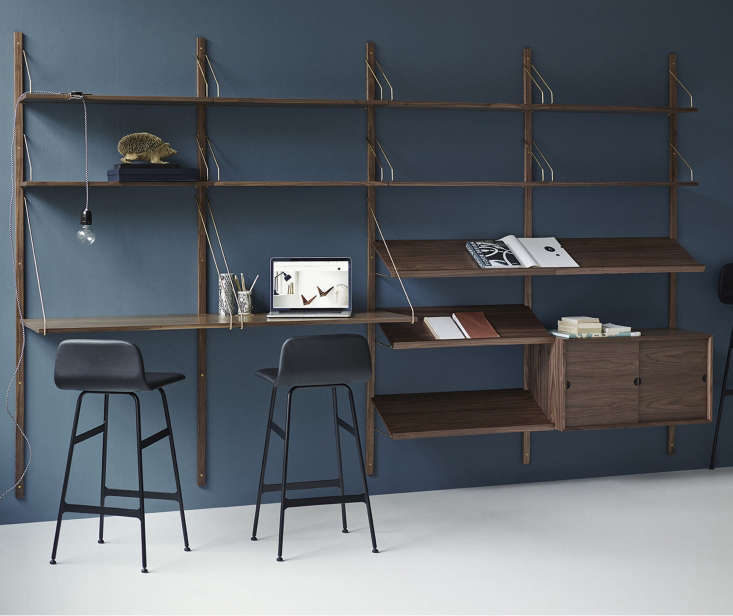 Designed in 1948 by Poul Cadovius, the Royal System Shelving System is available in oiled oak or walnut; contact Haus London for sourcing information.
