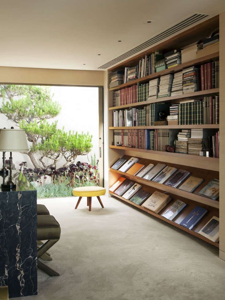 Steven Meisel Bookshelves, Photo by Roger Davies, from Architectural Digest
